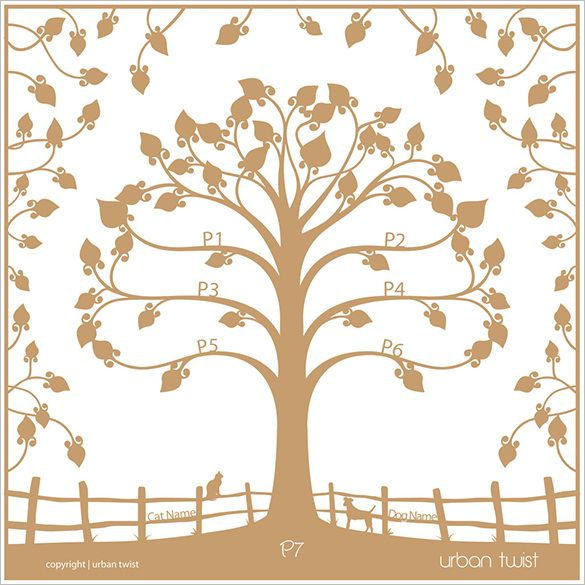 15+ Amazing Family Tree Art Templates \ Designs Free \ Premium - family tree template