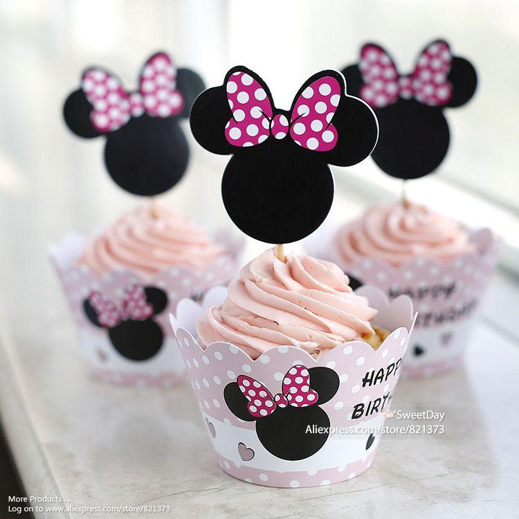 Barato Grátis frete Minnie Mouse queque wrappers copos bolo pega toppers chá de bebê menina crianças festa de aniversário decorações suprimentos, Compro Qualidade Decoração de festa diretamente de fornecedores da China:  ? ? ? ? ? ? ? ? ? ? ? ? ? ? ? ? ? ? ? ? Bem-vindo ao Sweetday ! ? ? ? ? ? ? ? ? ? ? ? ? Estamos dispostos a fazer tudo