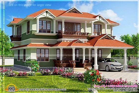Home Kerala Ground Floor 1559 Sqft First Floor 853 Sq
