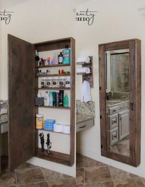 Photo of DIY Badezimmerspiegel Aufbewahrungskoffer