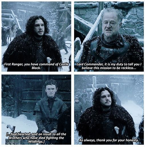 Thank You For Your Honesty Game Of Thrones Quotes Jon Snow Gameofthrones