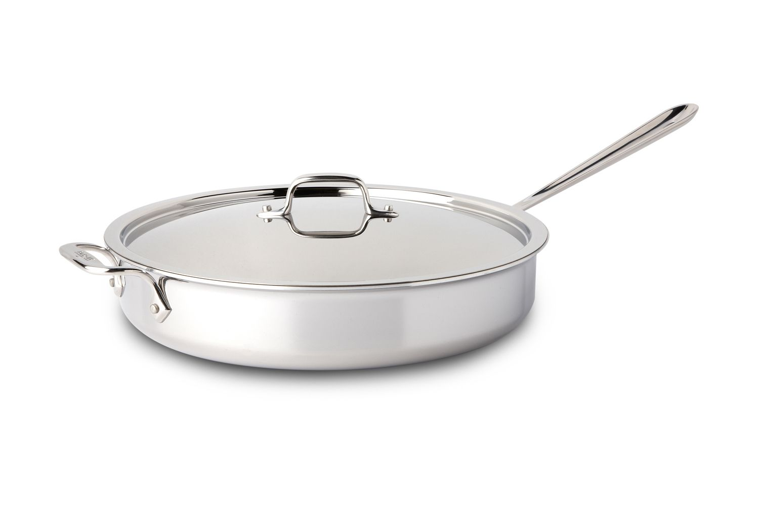 All Clad D3 Tri Ply Stainless Steel 6 Qt Saute Pan W Lid Saute Pan Stainless Pan All clad 6 quart saute pan