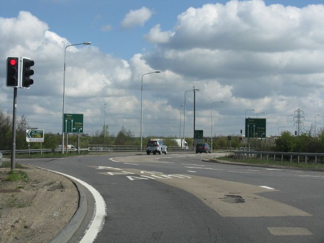 stukeley england | Stopped at Stukeley roundabout (C) J Whatley :: Geograph Britain and ...