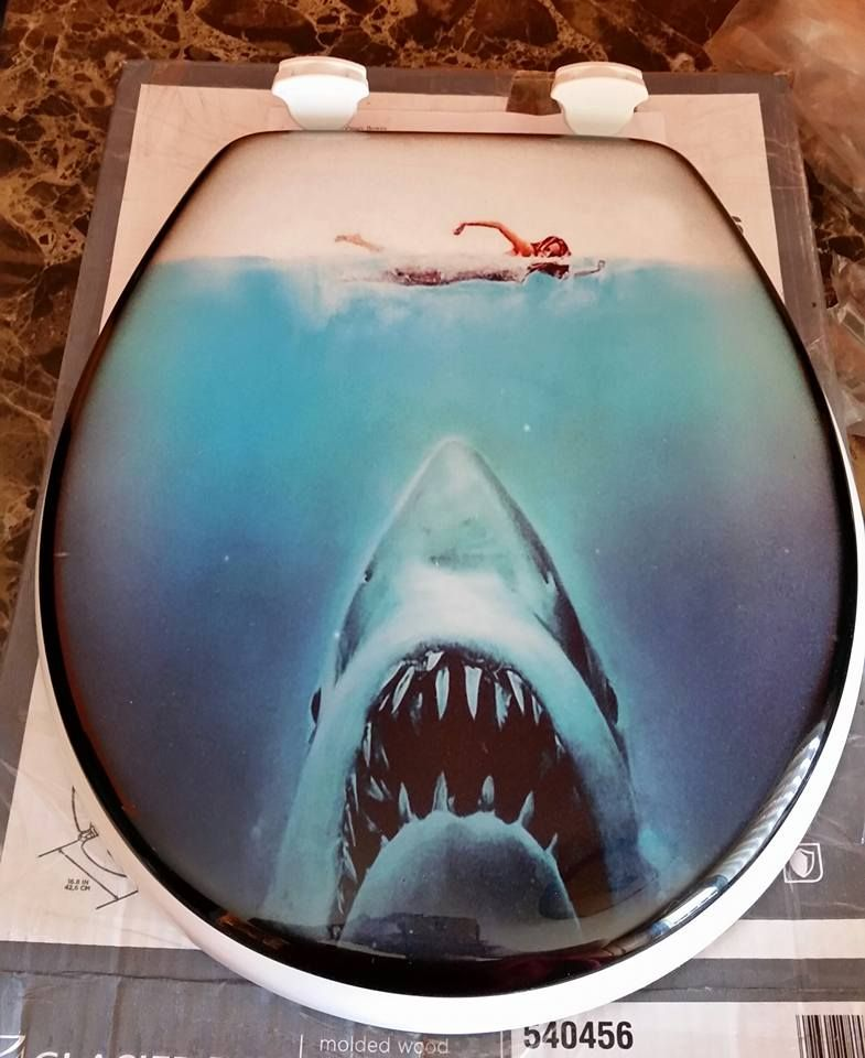 Custom Jaws Toilet Seat For My Jaws Bathroom Jaws