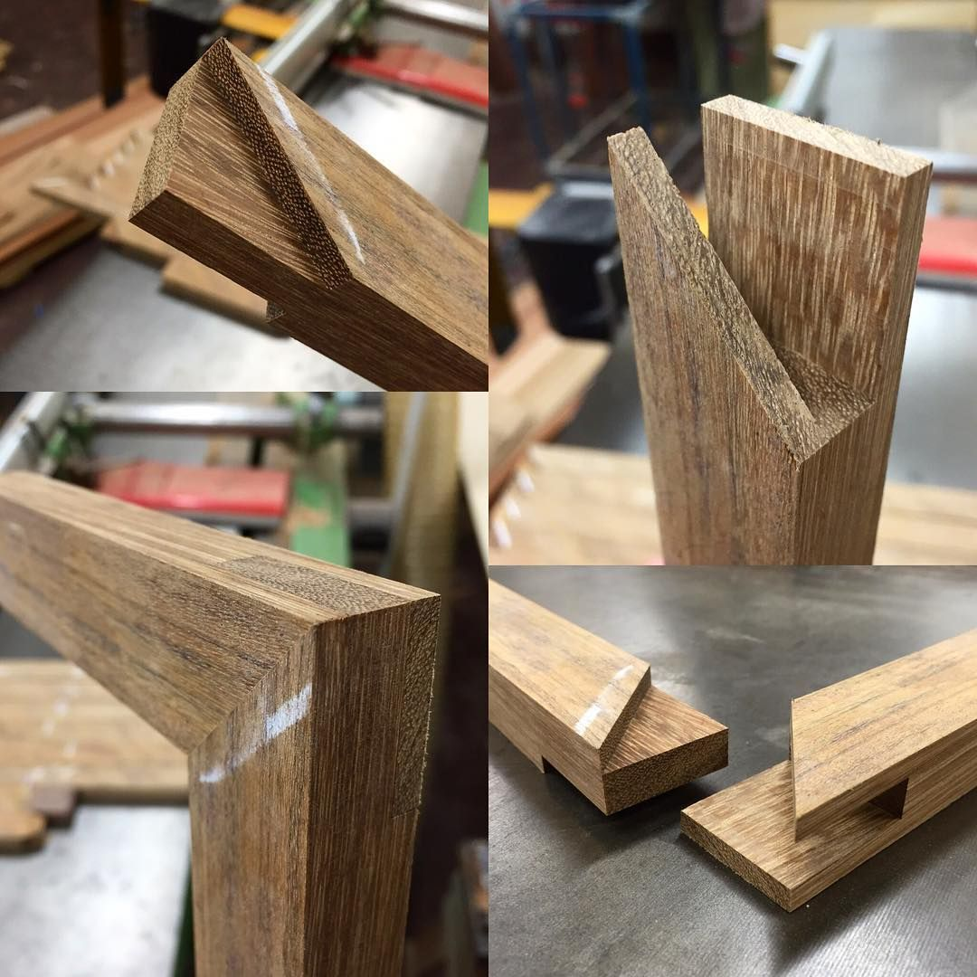 Here Is The Finished Joint A Quick Simple And Strong Mitered Bridle Joint Should Add A Nice Detail To The Timber Frame Glass Timber Door Timber Frame Joinery