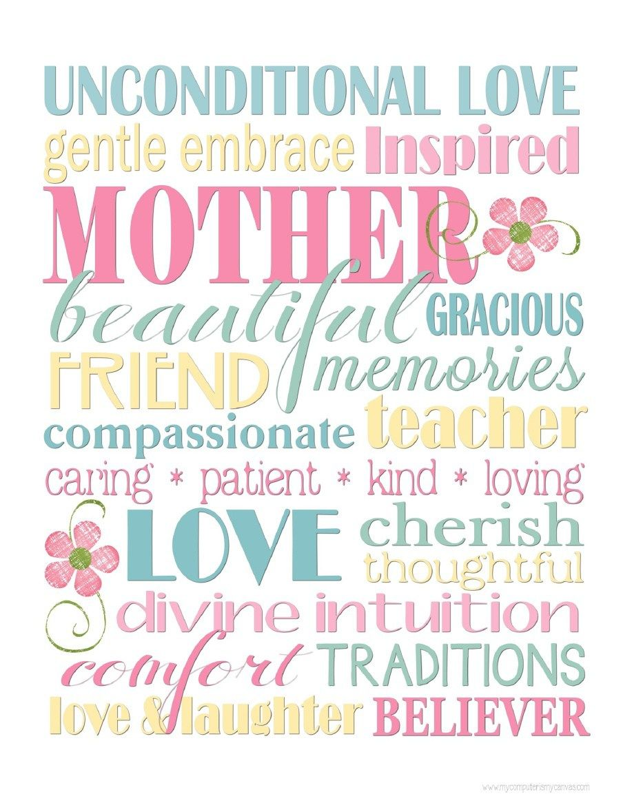 happy mother s day to all 34 free mother s day subway art printables mothers day brunch. Black Bedroom Furniture Sets. Home Design Ideas