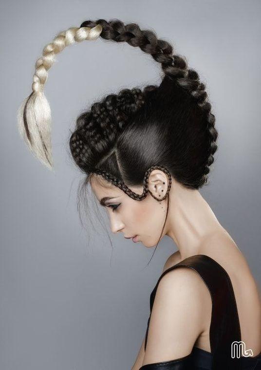 40 Fun Hairstyles Funnyfoto Artistic Hair Hair Styles Crazy Hair Days