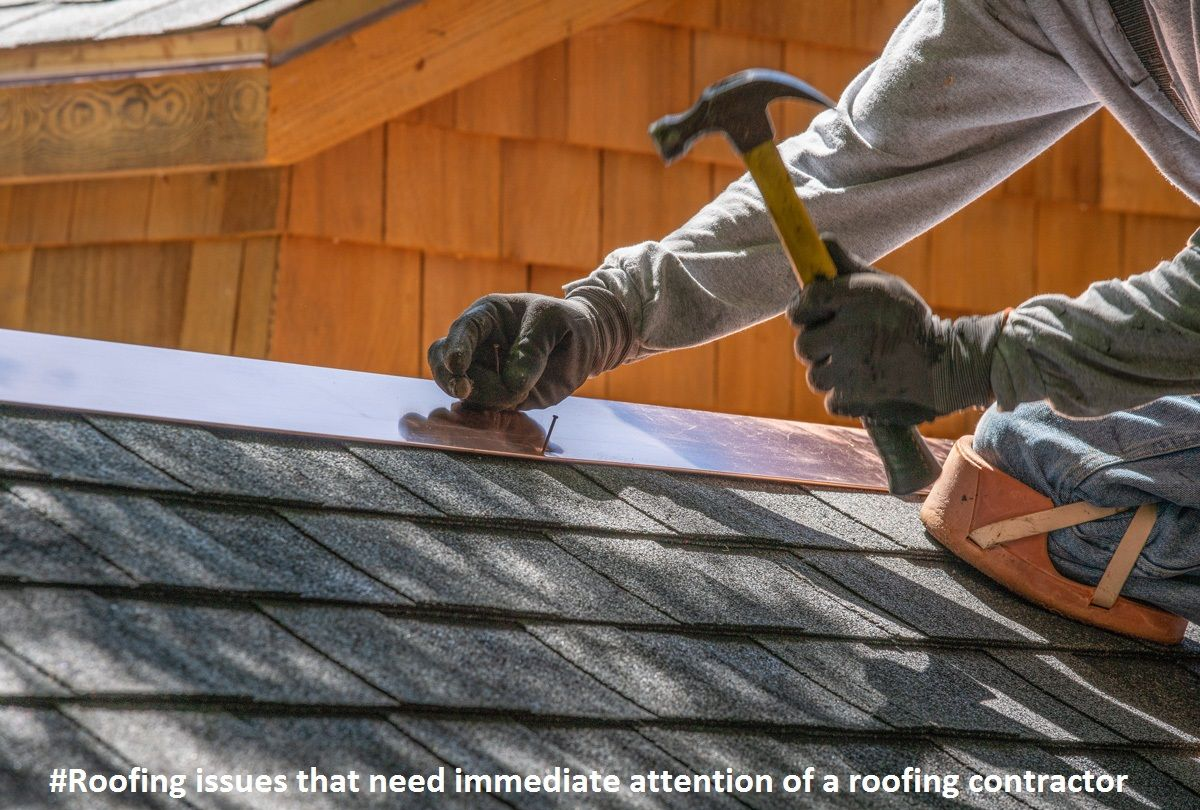 Roofing Issues That Need Immediate Attention Of A Roofing Contractor Home In 2020 Roof Repair Roofing Services Roofing Diy