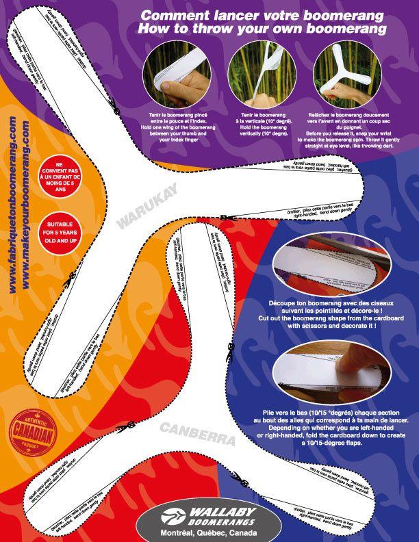 Indoor cardboard boomerangs Wallaby Boomerang Boomerangs