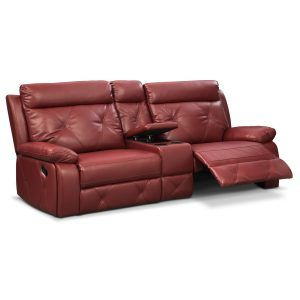 Dante Red Leather Sofa