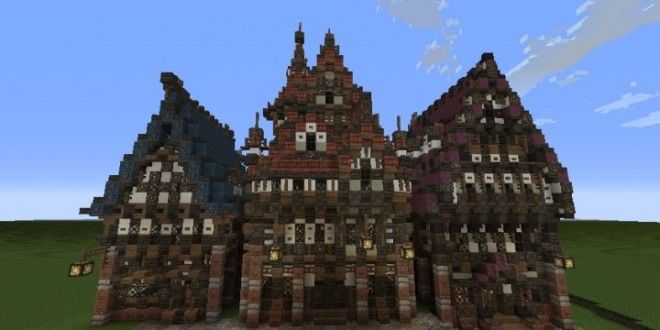 Three Merovian Houses Minecraft BuildingsBuilding