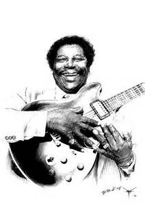 BB King portrait by perception-distorted More