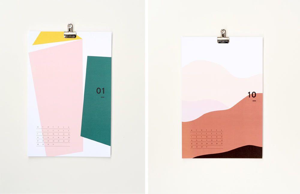 20 Modern Calendars For 2019 Design Milk Modern Calendar