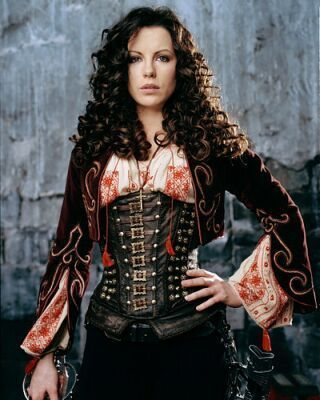 Hair, jacket, corset, oh and the sword!