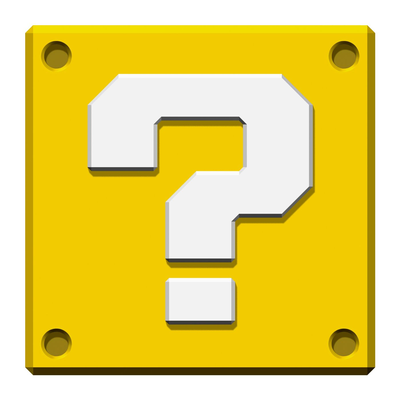 DIY Question Mystery Box & Brick Mario Video Game Template Just ...