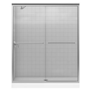 Fluence 5958 in x 70516 in Frameless Bypass Shower Door in