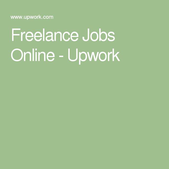 Freelance Jobs Online - Upwork