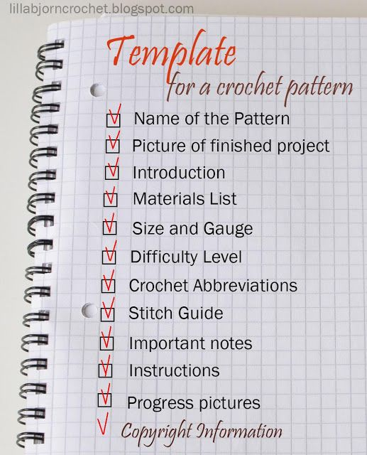 How To Write A Crochet Pattern Simple And Detailed Guidelines By