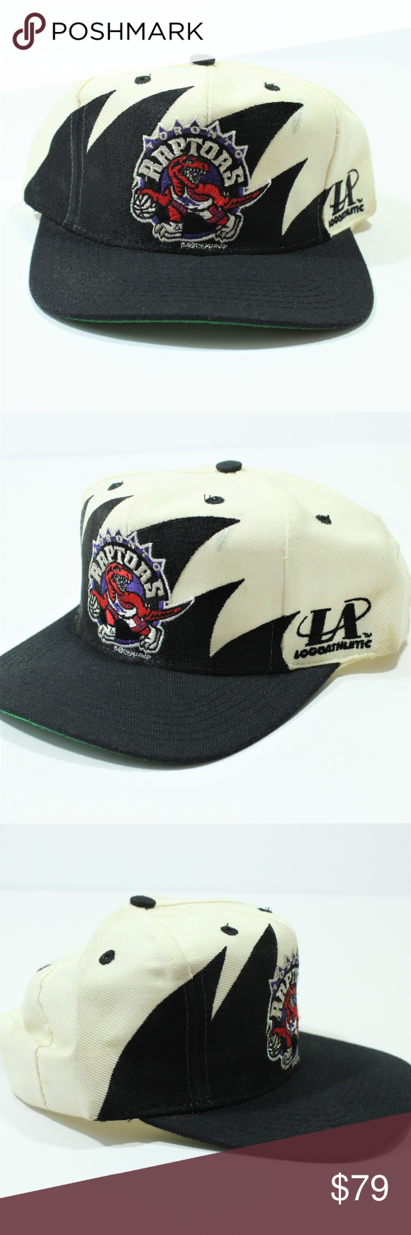 265e32ce VTG Logo Athletic SnapBack Toronto Raptors Hat Cap Vintage Logo Athletic  Shark Tooth SnapBack Hat NBA