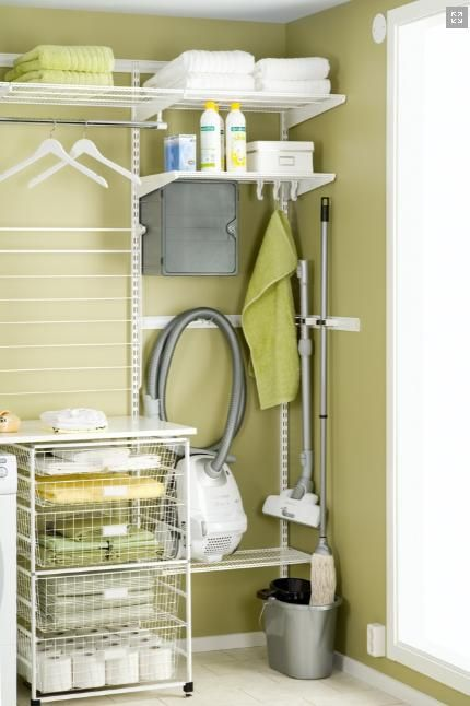 Palace Elfa laundry storage solution from Howard's Storage World Elfa Pinterest Garderob