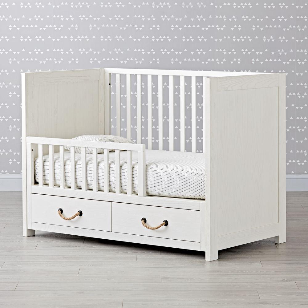 Topside White Glaze Toddler Rail Toddler bed, Cribs, Bed