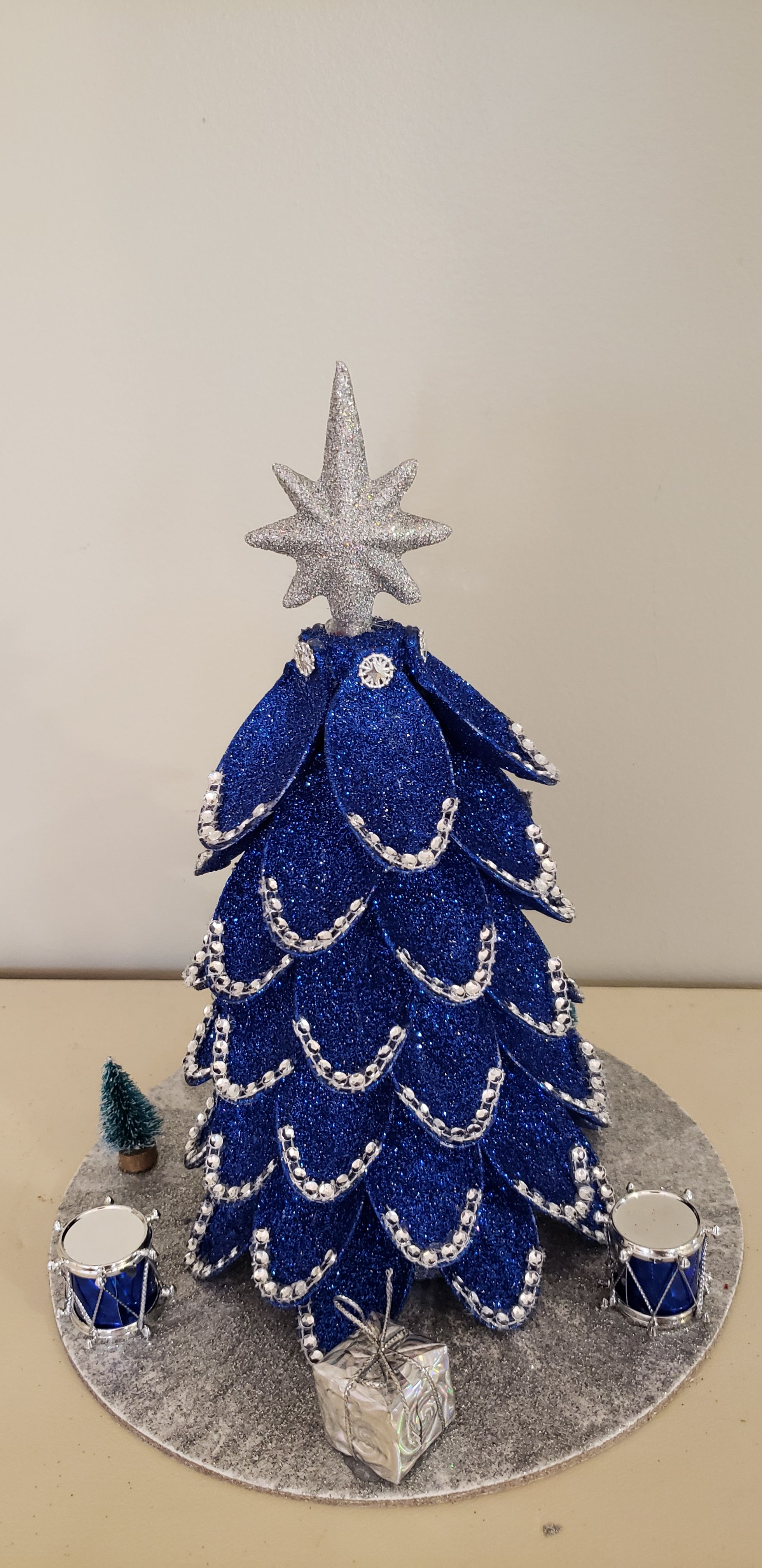 Royal Blue/Silver Christmas Tree #sunflowerchristmastree
