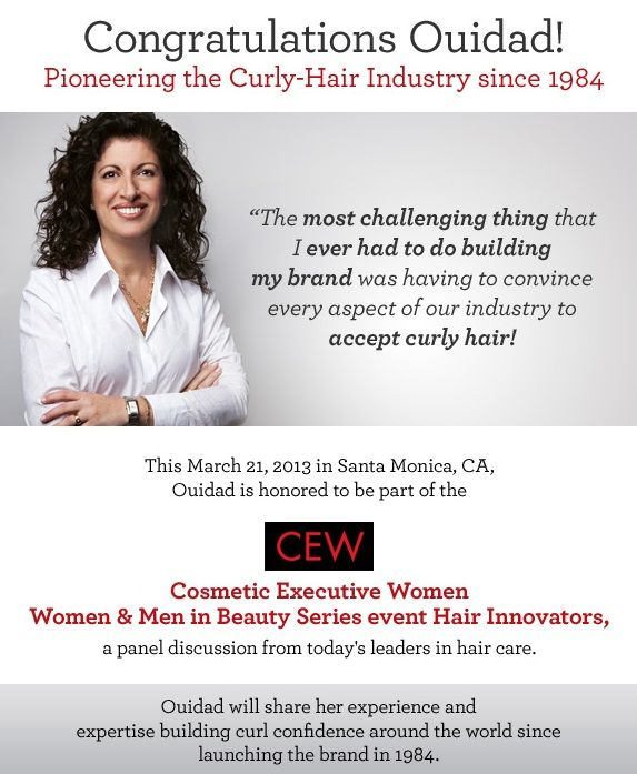 Ouidad featured at the Cosmetic Executive Women Haircare Innovators - resume building services