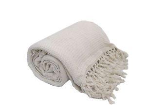 Tagesdecke Luxus Groß Creme 100% Baumwolle Sofa Bett Überwurf 230 x 254 | eBay