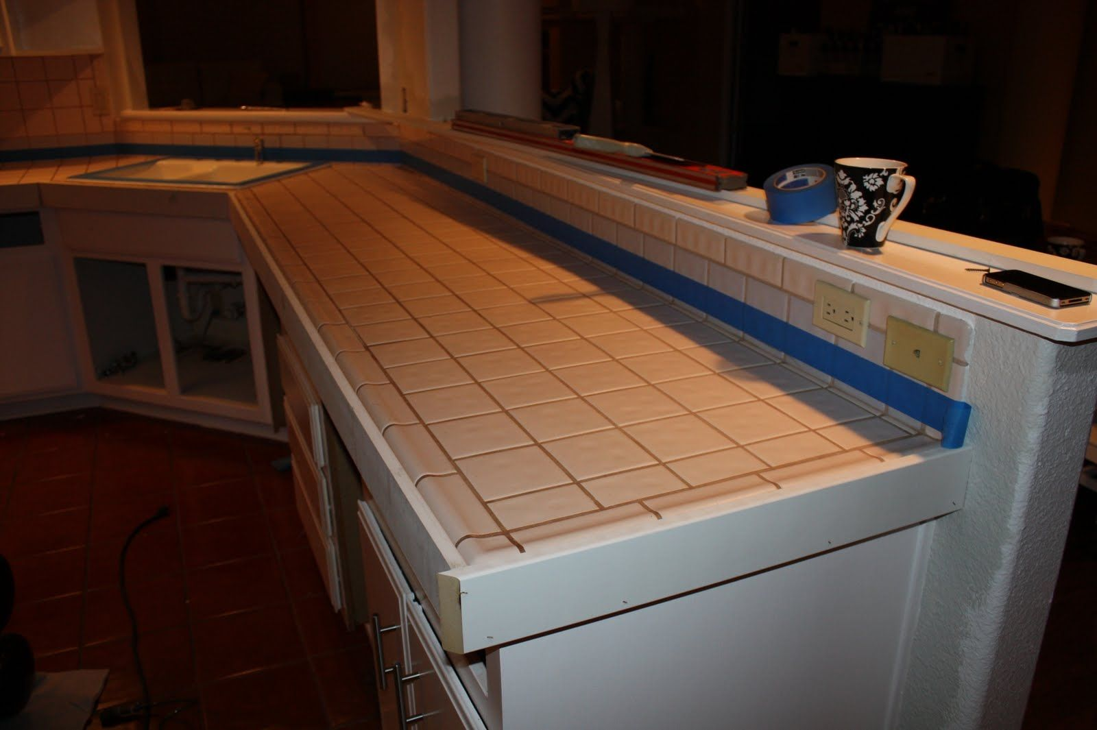 Cover kitchen countertops with concrete with images