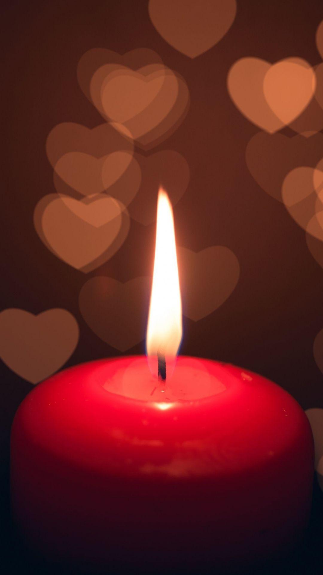 Candle Heart Dark IPhone 6 Plus Wallpaper Lit Iphone