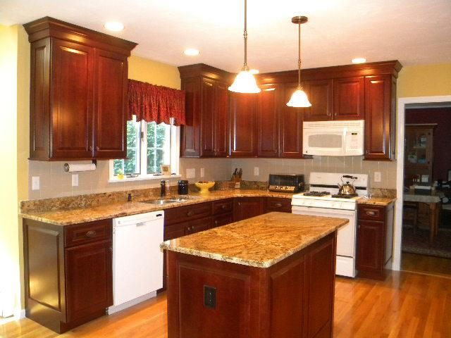Crystal Gold Granite Countertops Installed In Westborough, MA