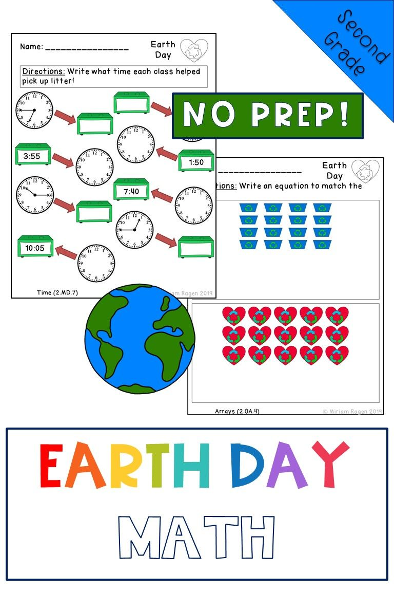 Earth Day Math Worksheets Second Grade Common Core Aligned No Prep Math Worksheets Common Core Aligned Math [ 1152 x 768 Pixel ]