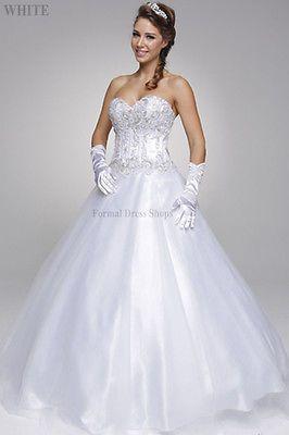 FORMAL BRIDAL GOWN QUINCEANERA CINDERELLA DRESS WEDDING DESTINATION ... fc05ccff248e