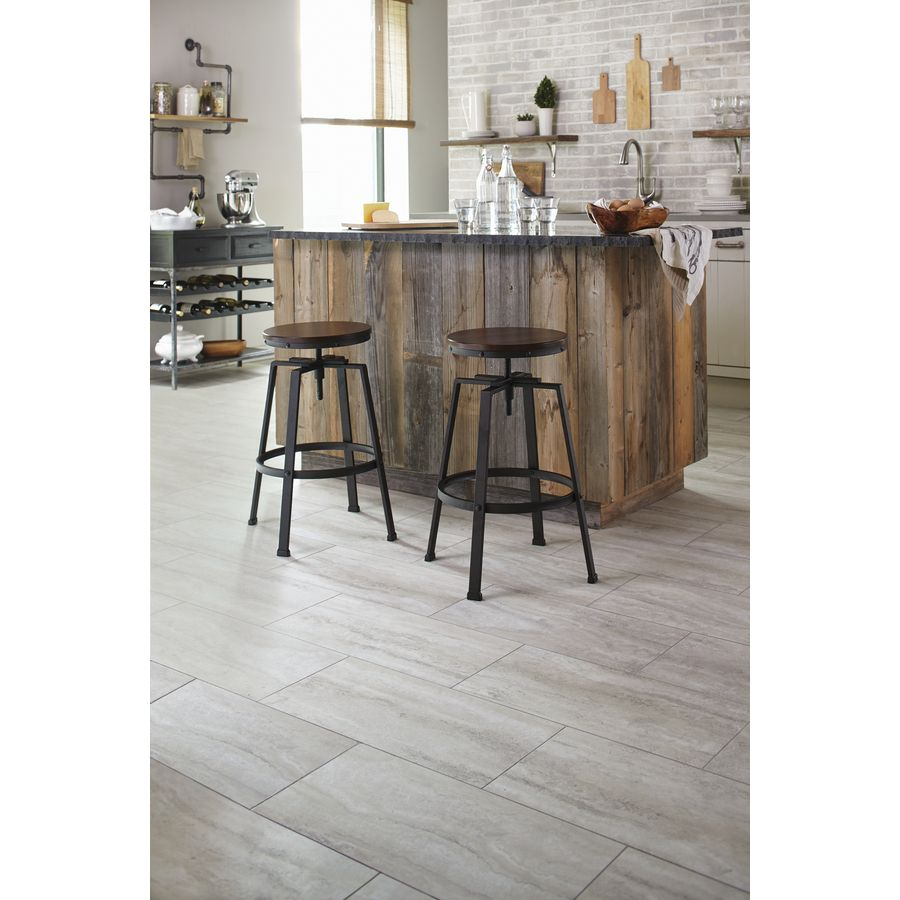 Shop Stainmaster 12 In X 24 In Groutable Oyster Travertine White Peel And Stick Travertine Luxury Vinyl Tile Resident Luxury Vinyl Tile Vinyl Tile Luxury Vinyl