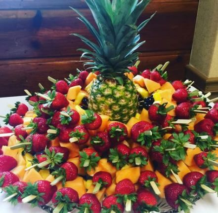 Pin By Billie Hutson On Luau Party In 2020 Fruit Buffet Fruit Displays Food Display Table