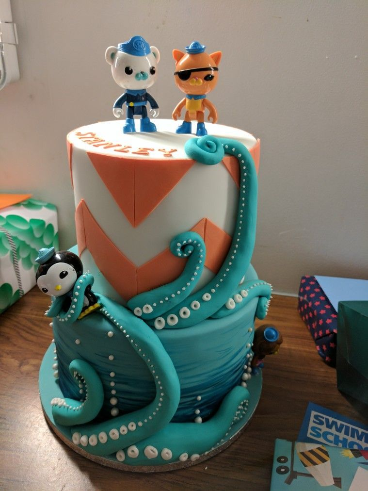Incredible Octopod Cake Octonauts Birthday Cake By Claire Owen Cakes Personalised Birthday Cards Veneteletsinfo
