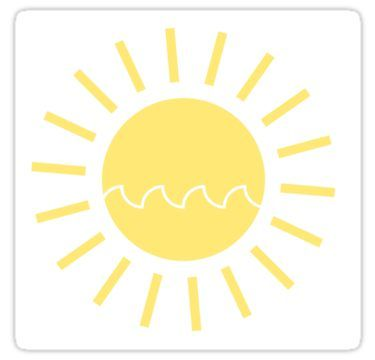 Sun With A Wave Sticker In 2019 Stickers Happy Stickers