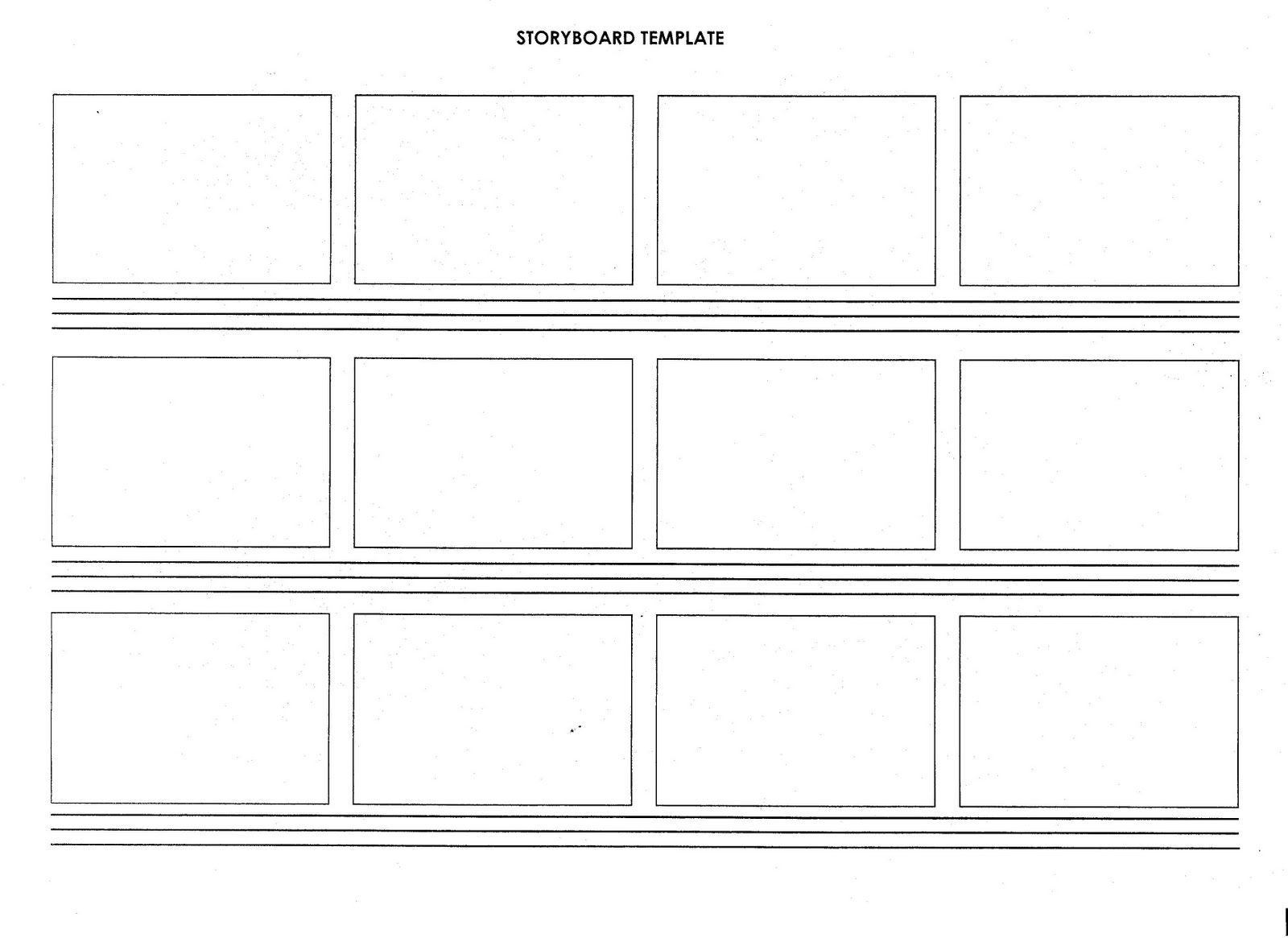 Script Storyboard Template Blank