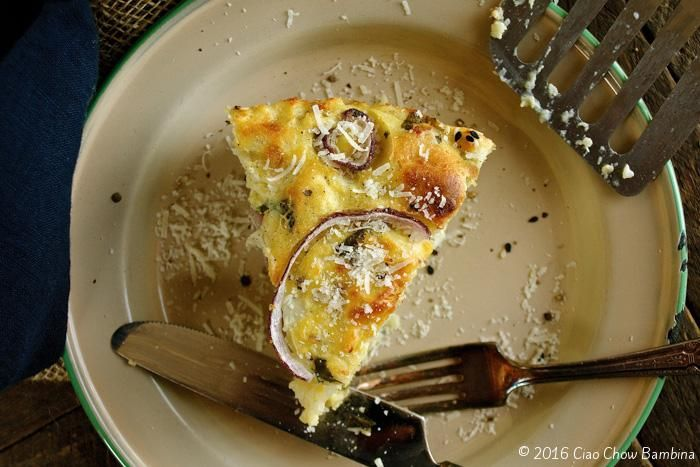 Cauliflower Cake with Pecorino Romano & Sweet Basil