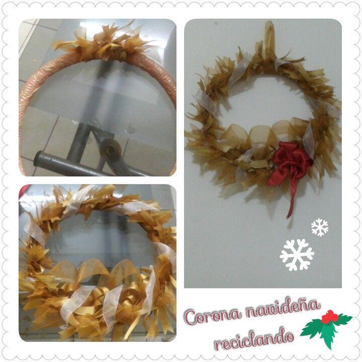 Corona de Navidad , Reciclando