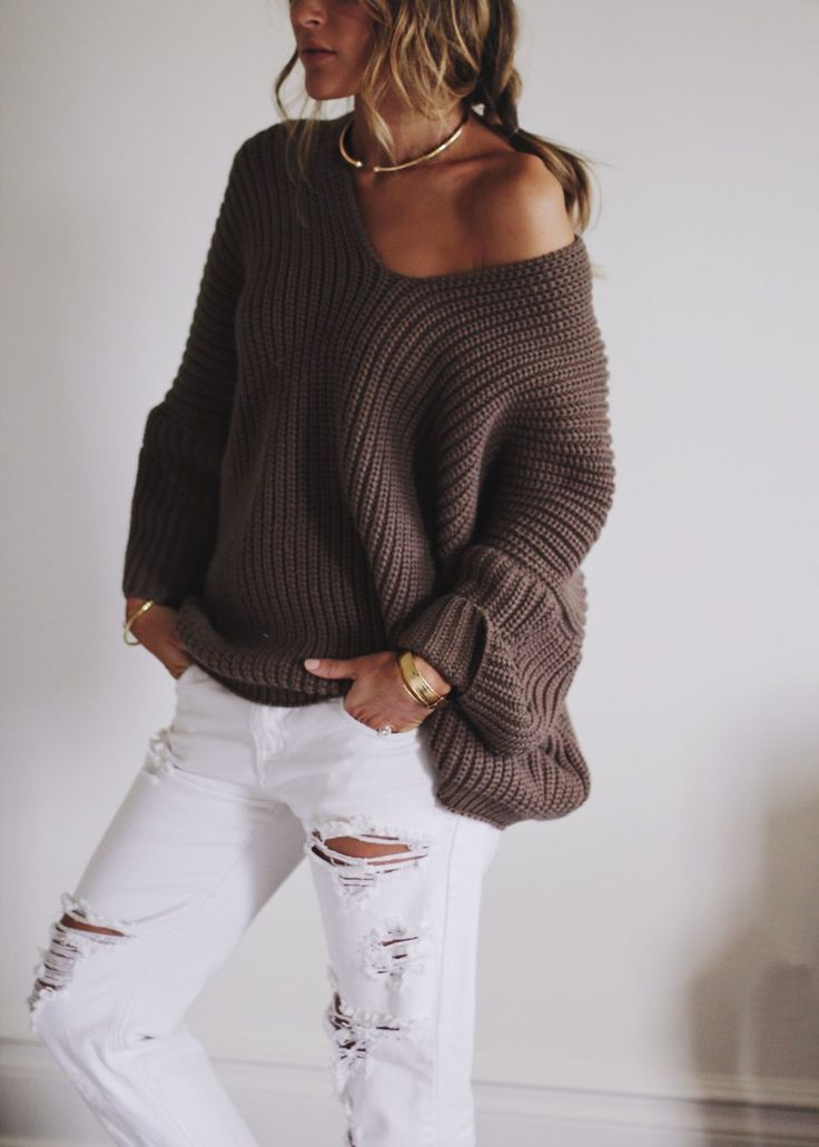 SLOUCHY SWEATER   SALES | Shoulder, Slouchy sweater and Winter style