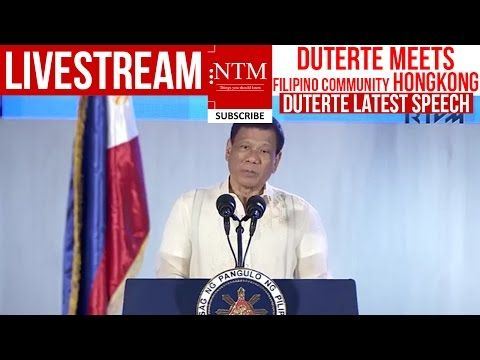 LIVE NOW: DUTERTE IN HONG KONG! LIBO LIBONG FILIPINO UMATEND MALUHALUHA sa SAYA na NAKITA si DUTERTE - YouTube