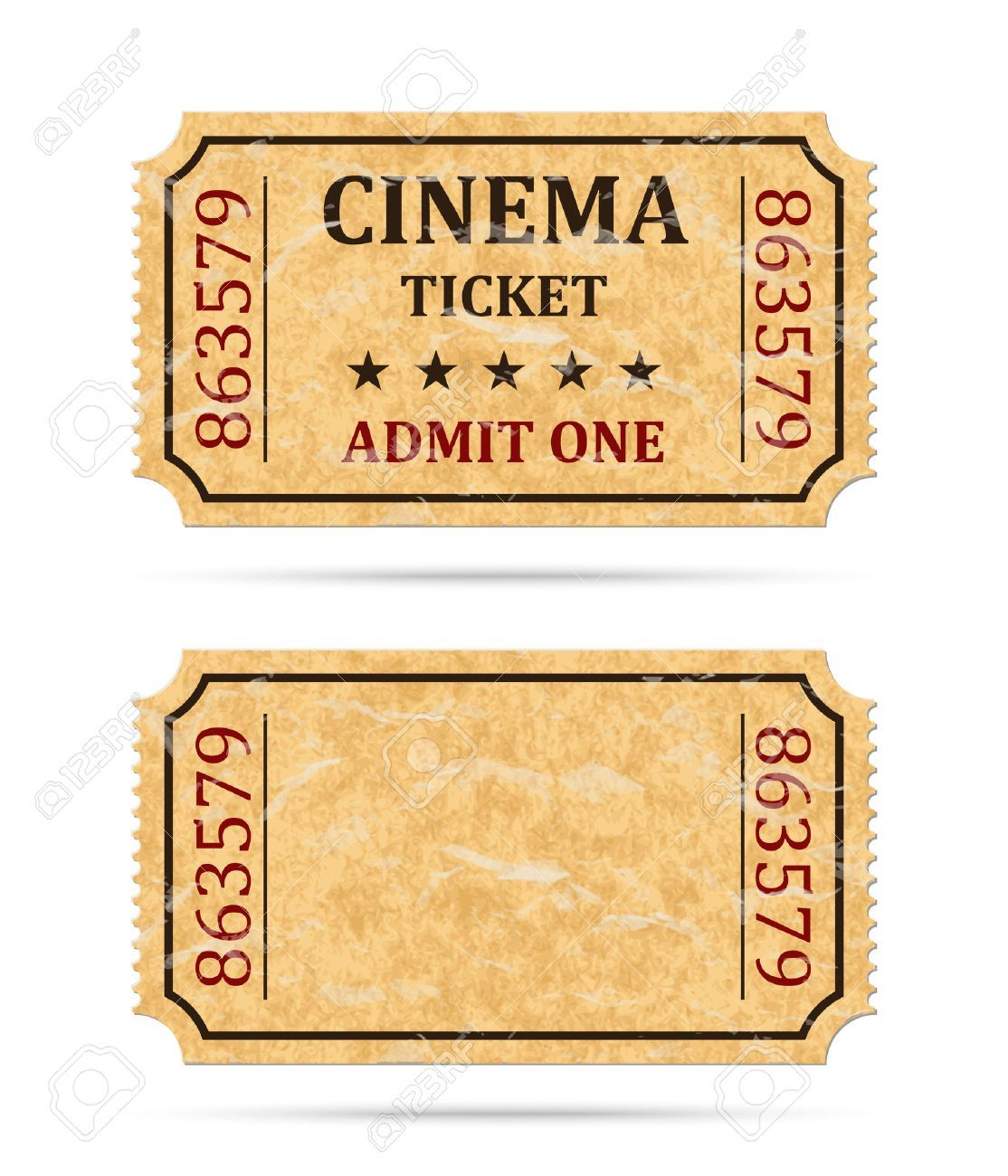 Retro Cinema Ticket And Empty Ticket Royalty Free Cliparts Vectors And Stock Illustration Image 41919873 Cinema Ticket Cinema Cinema Party