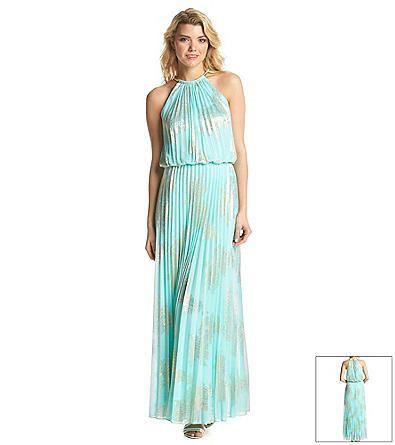 MSK® Gold Foil Maxi Dress | Elder-Beerman | Dress Ideas | Pinterest ...