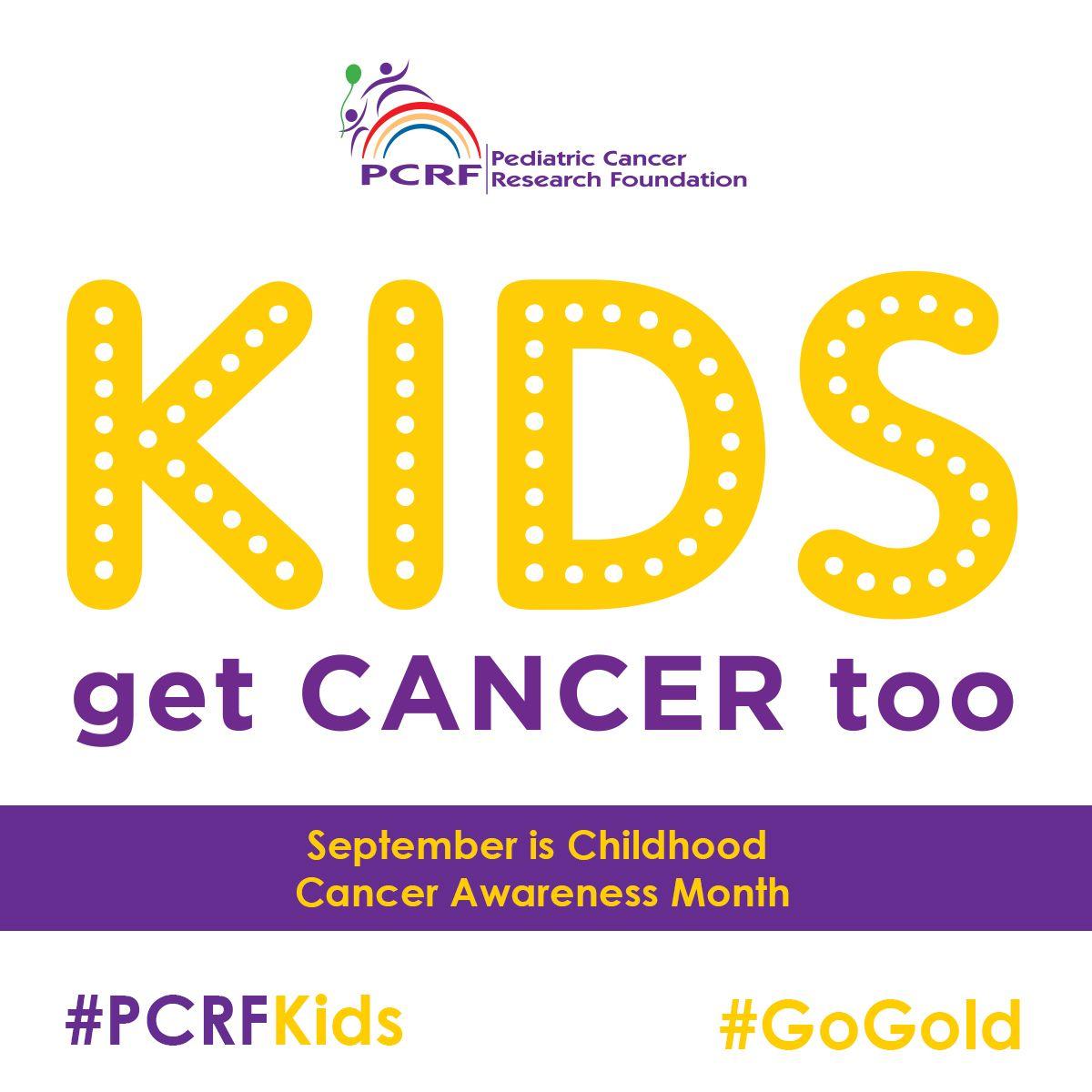 PediatricCancer ChildhoodCancer PCRFKids CureCancer