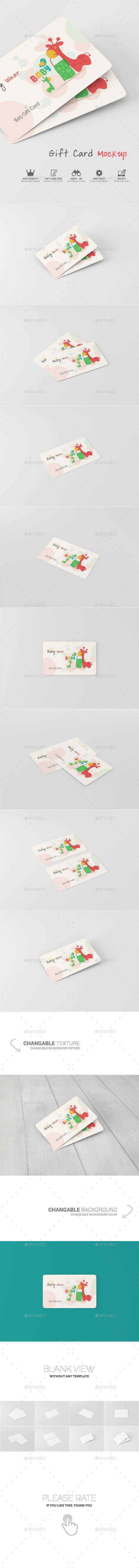 Gift Card Mockup. Download here: http://graphicriver.net/item/gift ...