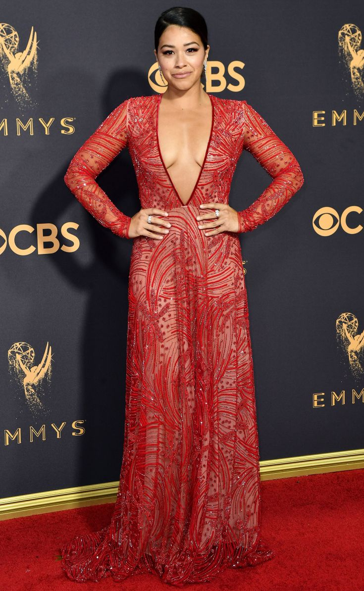 The Emmys\' Most Gorgeous Gowns   Gina rodriguez, Red carpet and ...