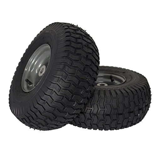 Tire 2 Pack 15x6 00 6 Tube Type Turf Saver Tread Pneumatic Four Ply Ranking Wheels Strong Darkis Craftsman Riding Lawn Mower Riding Mower Lawn Mower Tires