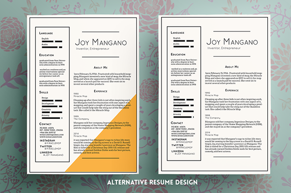 Creative Resume Template By Fay Zodiac  Inspiring Visual Cvs