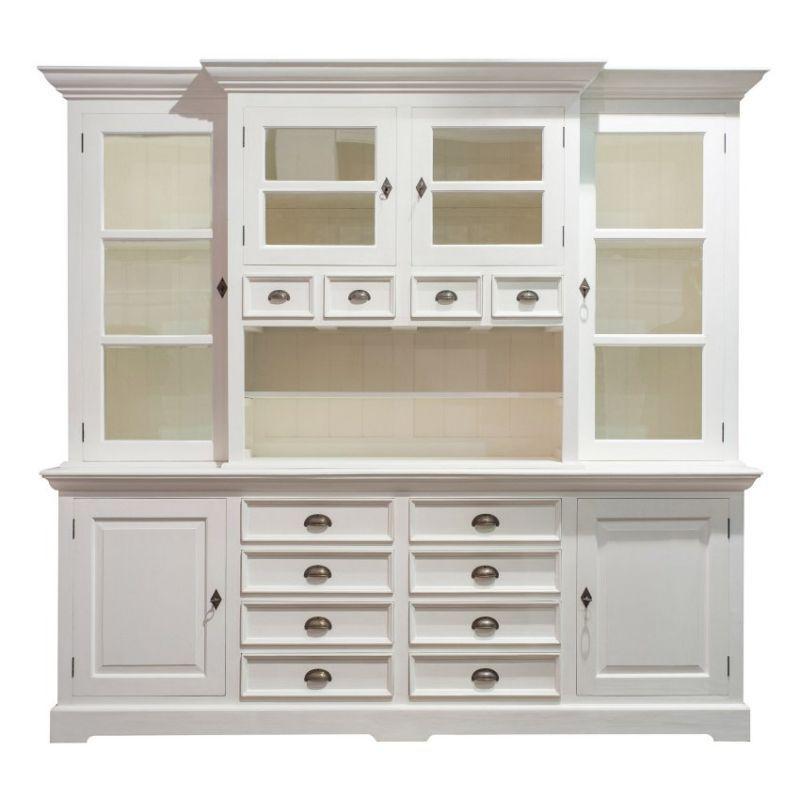 Dekoria, Buffetschrank Brighton 225x45x220 white | Englische Möbel ...